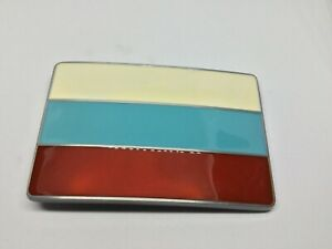 RUSSIA Flag New BELT BUCKLE Metal Russian Red & White Blue Flag