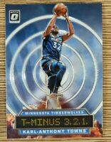2019-20 Panini Donruss Karl-Anthony Towns T-Minus 3,2,1 #10 Timberwolves