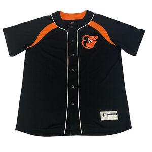 Majestic Baltimore Orioles Black Cool Base MLB Baseball Jersey Size Medium