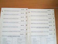 Werkstatthandbuch Mercedes Elektrik W 124 Schaltpläne 1. Serie  incl. Nachträge