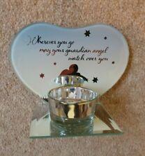 Guardian Angel Mirrored Tea Light Holder New Genuine