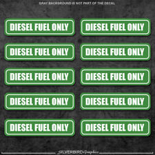 10x Diesel Fuel Only sticker door  gasoline gas decal / truck / label tank vinyl