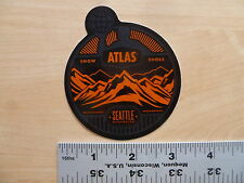 Atlas SnowShoe Circle Sticker Decal
