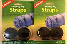 """2 PAIR SLEEPING BAG STRAPS 3/4"""" STRONG POLYPROPYLENE WITH QUICK RELEASE BUCKLE"""