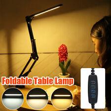 56LED USB Long Arm Desk Lamp Folding Reading Clip-on Table Light Lam R