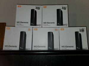 WD Western Digital 8TB Elements Hard Drive HDD USB 3.0 Chia Ready To Ship