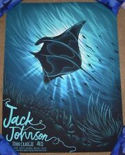 JACK JOHNSON concert gig poster print BERKELEY / LAKE TAHOE 2017 arno kiss