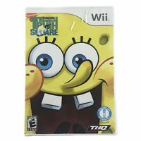 SpongeBob's Truth or Square (Nintendo Wii, 2009) Complete w/Manual CIB