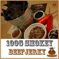 BEEF JERKY 100G BULK SMOKEY AUSTRALIAN OUTBACK PREMIUM BEEF JERKY FACTORY FRESH