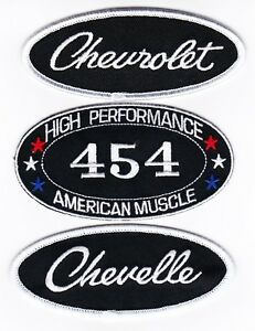CHEVY 454 CHEVELLE SEW/IRON ON PATCH EMBLEM BADGE EMBROIDERED
