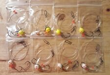 8 Fluorocarbon Surf / Pier Fishing Rigs for Pompano, Whitings, Flounder, Spots..