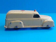 Vtg Collectible Diecast Tootsietoy Toy Car Ambulance Made In USA Yellow
