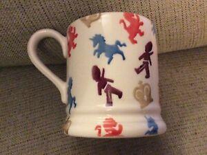BNIB New Emma Bridgewater Half Pint Mug - British Lions & Unicorns
