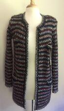 $995 ISABEL MARANT BARNEY 38/6 Striped Wool Boucle Knit Cardigan Long Jacket1337