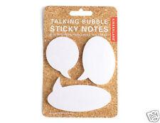 Kikkerland Speech Talking Bubble Sticky Notes 3 Size pads