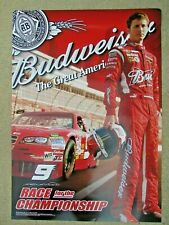 New Budweiser #9 Nascar Paper Poster Man Cave Bar Pub Banner Sign American Car