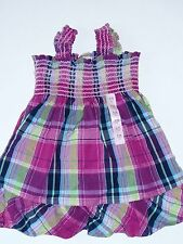 NWT BABY GAP SMOCKED PLAID DRESS BIG ISLAND LINE BABY GIRLS 6-12 MONTHS SUMMER D