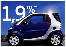 Smart Prospektkarte Finanzierung 1,9% Autowerbung Werbung Reklame Auto PKWs