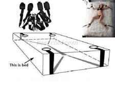 Convenient BDSM Bed Bondage Belt Hand Ankle cuffs Restraints Slave Game Straps