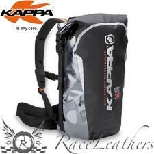 Kappa Impermeabile Black Silver Dry Set Zaino Borse per Moto 30 Litre