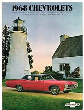 CHEVROLET 1968 USA MARKET brochure Nova CORVAIR Camaro Chevelle Caprice Corvette