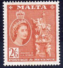 Elizabeth II (1952-Now) Pre-Decimal Malta Stamps (Pre-1964)