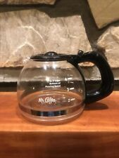 """Mr Coffee 4-5 Cup Replacement Glass Coffee Pot Carafe Black LID ~4"""" Tall CLEAN"""