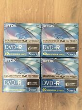 20 Discs TDK ScratchProof 8cm 2.8GB 2x DVD-R 60Min Double Sided for Camcorders