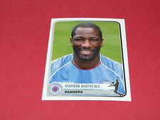 317 M. ANDREWS GLASGOW RANGERS  UEFA PANINI FOOTBALL CHAMPIONS LEAGUE 2005/2006