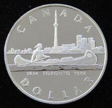 BU 1834-1988 Canada $1 Dollar 50% Silver Proof Coin IN AIRTITE CASE - Item# 5912
