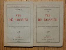 Vie de Rossini.de Stendhal en 2 tomes - 1929 TBE