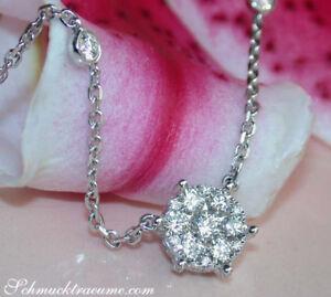 Elegante Raffinesse: Exquisite Diamant Kette in Weißgold 750 1.29 ct. TW VS