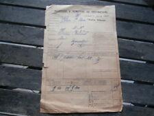 Chemin Fer de l' EST Gare VRIGNE-aux-Bois FERRONNERIE  CRETON BERTRAND 1924