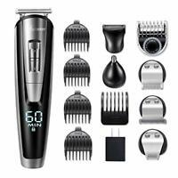 Hatteker 5 in 1 Men Grooming Kit Beard Trimmer Hair Clipper Cordless Haircut Set