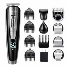 Hatteker 5 in 1 Men Grooming Kit Beard Trimmer Hair Clipper Cordless Haircut Set