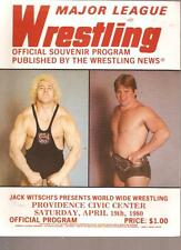 Mint 1980 AWA Hulk Hogan Backlund WWF Wrestling program WWWF Monsoon Santana AWA