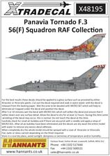 NEW RELEASE Xtradecal X48195 1:48 Panavia Tornado F.3 Part 2 56(F) Squadron