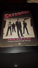 The Cretones The Thin Red Line Rare Original Promo Poster Ad Framed!
