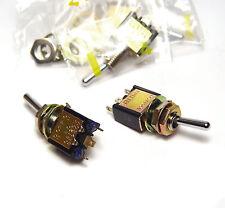 4x Mini Kippschalter / Miniatur-Schalter, Knitter MST106E, EIN / AUS / EIN, NOS