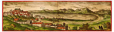 Pozzuoli Phlegraean Fields Campania Italy bird's-eye view map Hogenberg ca.1575