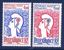 FRANCE N° 2216 à 2217 ** sans charnière , TB, cote: 12 €