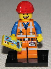 LEGO NEW SERIES 12 THE MOVIE Hard Hat Emmet MINIFIG MINIFIGURE 71004