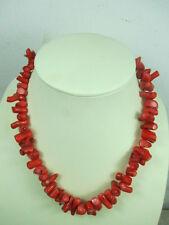 Strang echte Koralle, 47cm Kette, bis 2 cm Natur gewachse Äste rot Halskette D