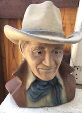 Vintage Bust Sculpture Western Rugged Statue
