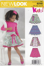 From UK Sewing pattern Girl's Skirt 3-12 yrs  #6258