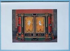 LARGE 1862 EXHIBITION PRINT WOOD CABINET POMPEIAN STYLE BY MR LEVIEN