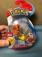 Pokemon PIKACHU and CHARMANDER Battle Figure Pack NEW