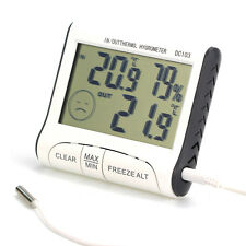 LCD Digital Indoor Outdoor Weather Thermometer Hygrometer Humidity Meter C/F