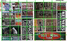NH019 DAVE'S DECALS 1/2 Set N SCALE GHOST SIGN SIGNS VINTAGE ADVERTISING MIXED