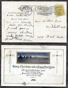 2873 - TORONTO 1923 Admiral Issue 4c Single on Christmas Postcard